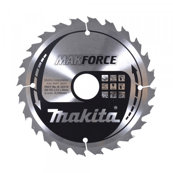 Makita B-32219 MAKFORCE Kreissägeblatt 165x30x24 8245 0621