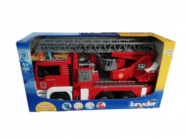 MAN Feuerwehr mit Drehleiter und Licht-Sound Modul   1119 6150