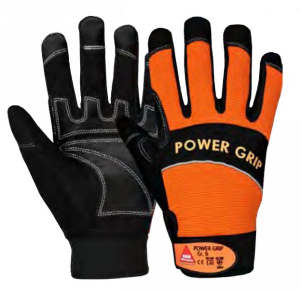 POWER GRIP Handschuhe schwarz/orange Gr9    1019 5209