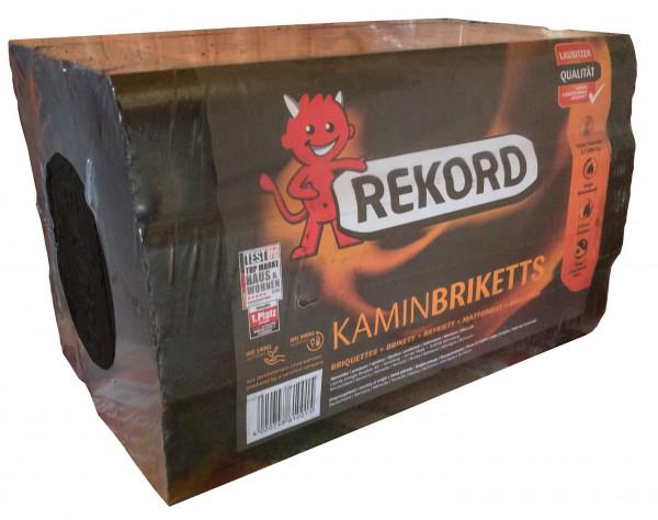 REKORD Schwarze Bündelbriketts 10Kg Kaminbriketts Braunkohle 0520 2365