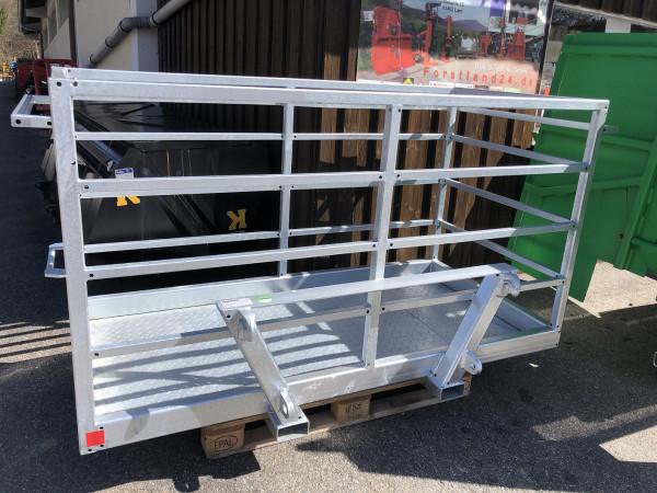 Arbeitskorb verzinkt 2m  Sicherheitskorb für Frontlader Arbeitsbühne Montagebühne