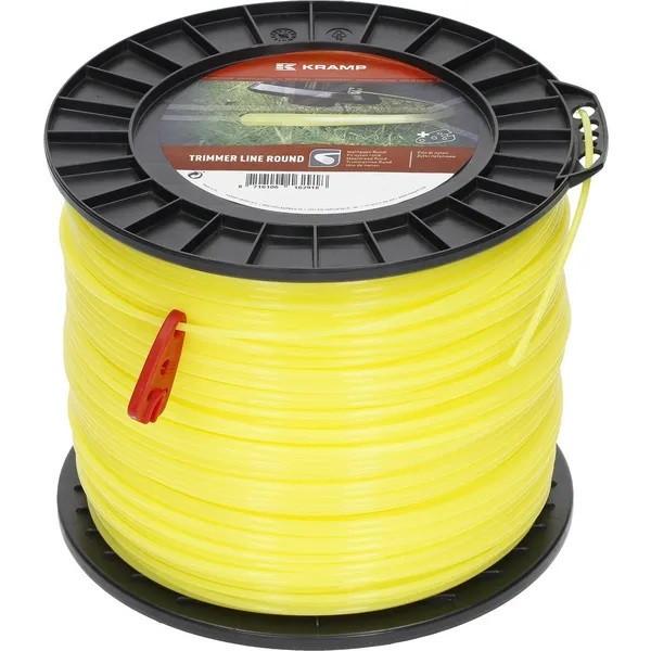 Mähfaden Ersatzfaden Motorsense Freischneider Trimmerfaden 2.4mm 439m rund gelb Kramp