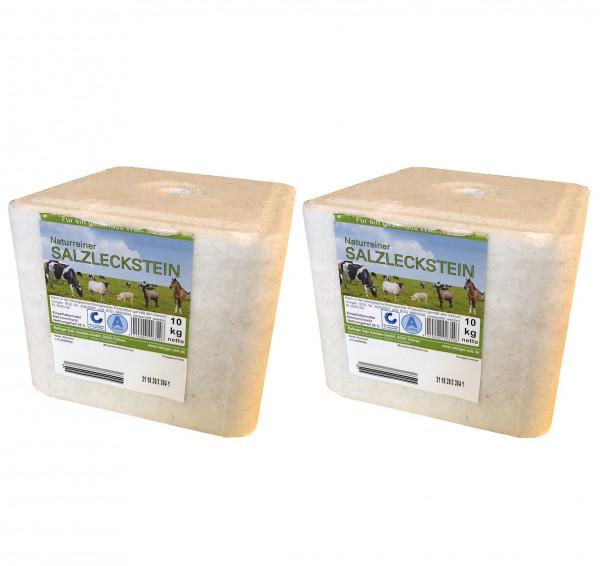 2 Stk. Salzleckstein Leckstein NA 38% 10kg 0520 5326