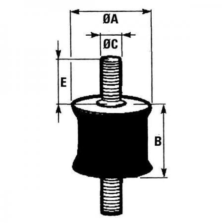 Schwingungsdämpfer  M6  15mm