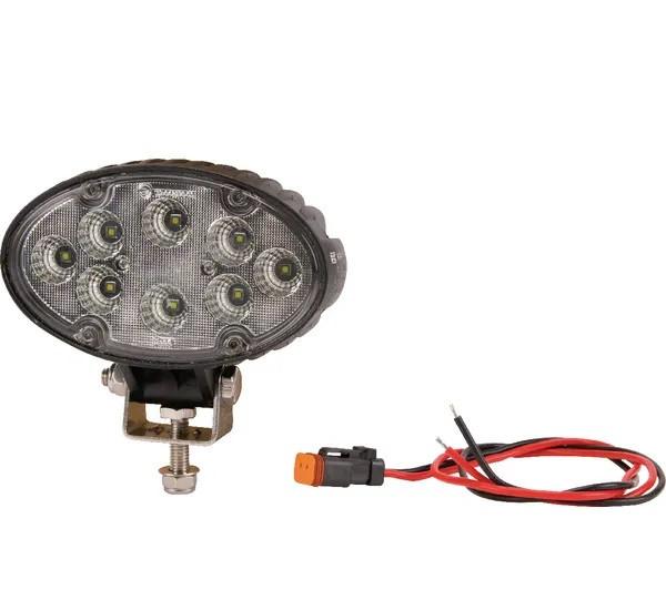 LED Arbeitsscheinwerfer 24W 1920lm 12V 24V - Flutlicht Zusatz Scheinwerfer Nahfeldausleuchtung