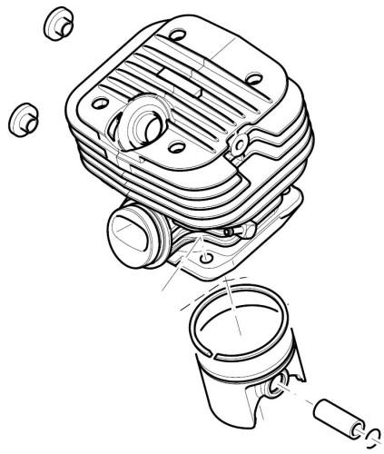 Dolmar Zylinder & Kolben komplett für PS420, PS420C      0120 6195