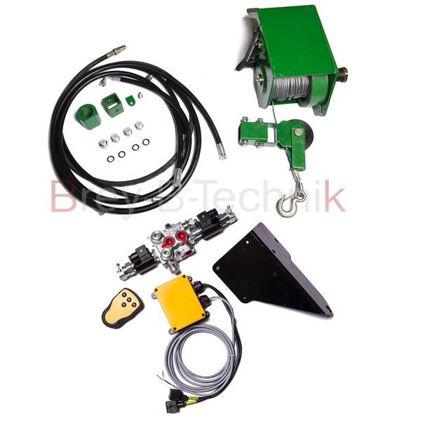 Hydraulische 1,4 t Seilwinde für Rückewagen inkl. Funksteuerung