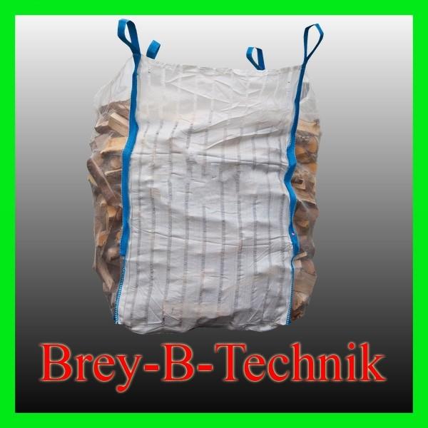 Holz Sack BIG BAG 100x100x150 cm  luftdurchlässiger Sack für Brennholz
