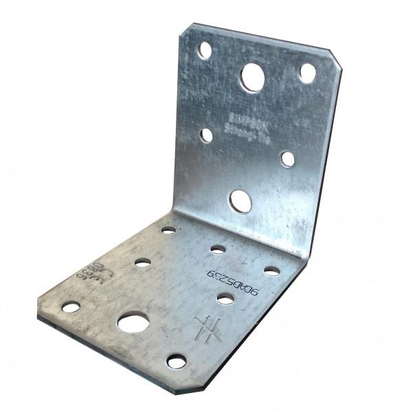 25 Stk. 70x70x55 Winkelverbinder ohne Steg Rippe Bauwinkel CE ETA Holz Bau Winkel 3433