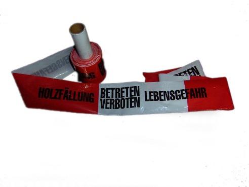Absperrband für Waldarbeiten Holzfällung Warnband 100m   919 1654
