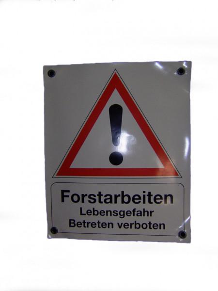 Absperrbanner - Forstarbeiten - Lebensgefahr - Betreten verboten