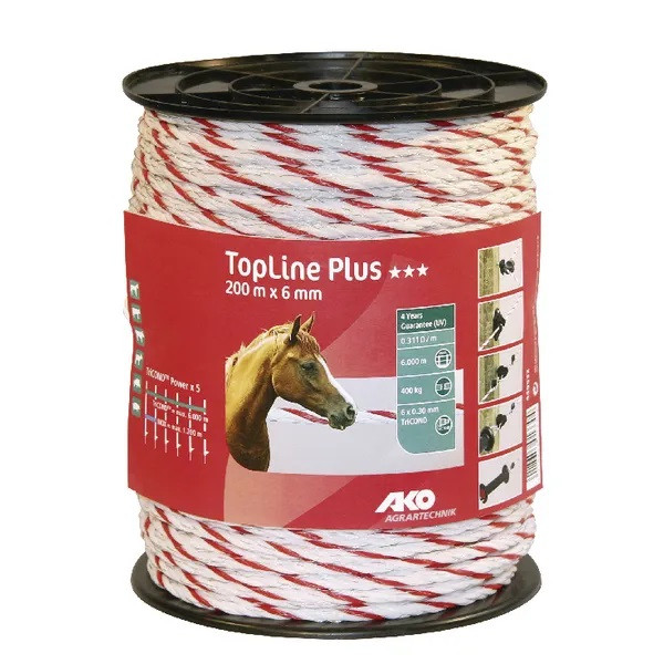 AKTION Weidezaunkordel TopLine+ 6mm