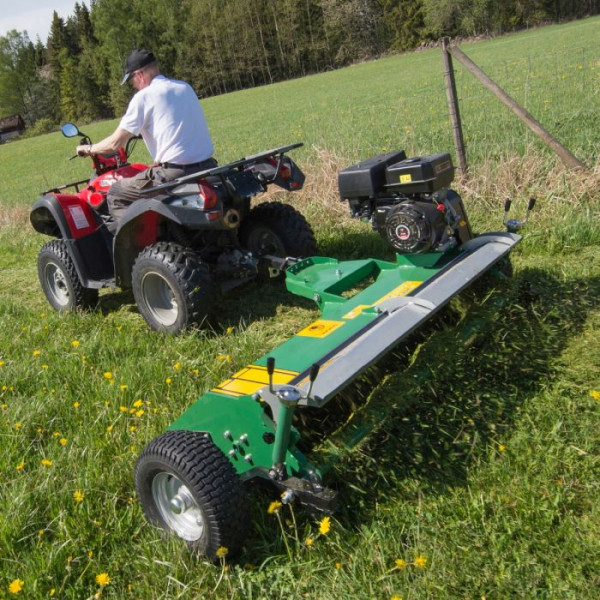 Schlegelmulcher Mulcher Mäher Quad ATV 1,50 m Schlegelmähwerk 18 PS