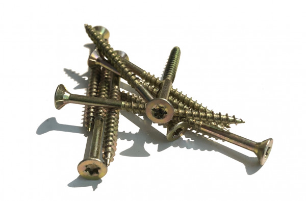 500 Stk. 5 x 50 x 20 JD-79 Spanpl.-Schrauben mit I-Stern, Senkkopf, Teilgewinde und Frsrippen unter dem Kopf I 20