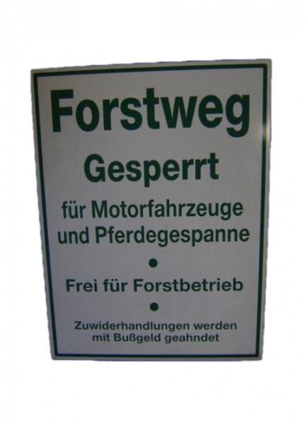 Forstweg Schild Verbotsschild    919 1652