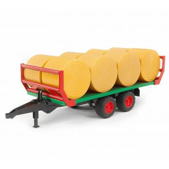 BRUDER 02220 Ballentransportanhänger mit 8 Rundballen