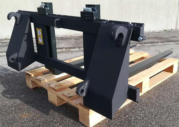 Euro Palettengabelträger 1,2m 2,0t leichte Ausführung mattschwarz mit 1,2m 2,0t Gabelzinken