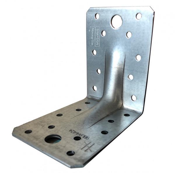 1 Stk. 90x90x65 Schwerlast Winkelverbinder mit Steg Rippe Bauwinkel CE ETA Holz Bau Winkel  3431