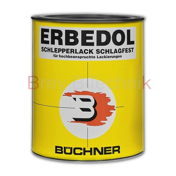 RAL 2001 Orange  Büchner Erbedol Lack Kunstharzlack Farbe 750ml