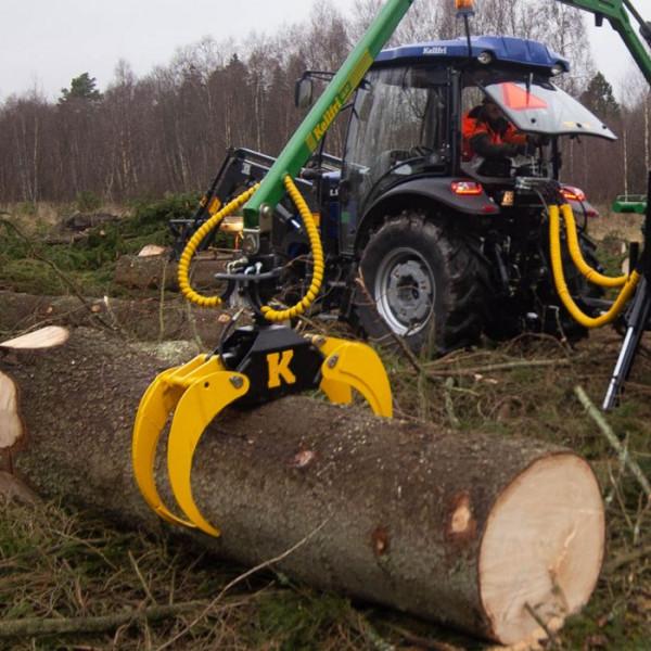 Forstgreifer 100cm Rückezange Kran Rückewagen Bagger Holzgreifer
