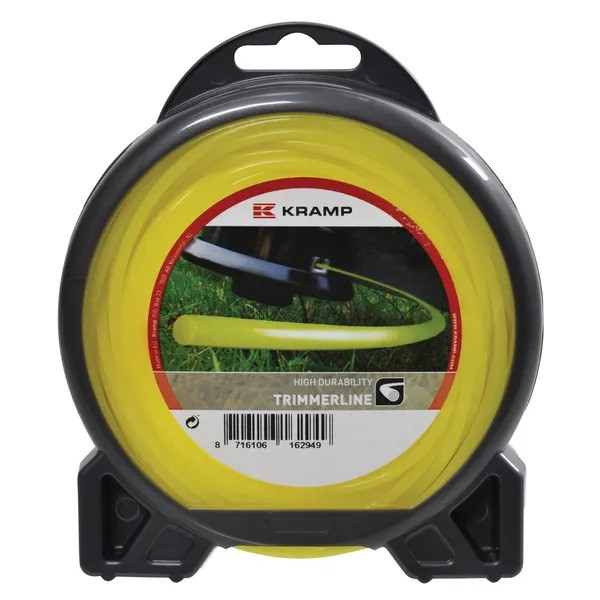 AKTION Mähfaden Ersatzfaden Motorsense Freischneider Trimmerfaden 2mm 15m rund gelb Kramp