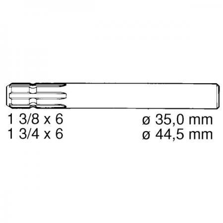 Anschlusswelle Zapfwellenstummel / Verlängerung einseitig 100 mm
