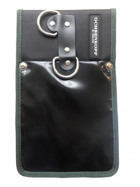 Ochsenkopf Maßbandhalter mit Gürtelschlaufe, Maßband