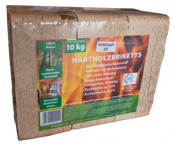 10 kg HEROS Hartholzbriketts   0520 4348
